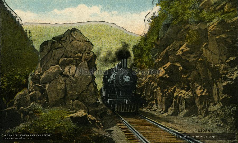 Postcard: Upper Gate, Crawford Notch, White Mountains, New Hampshire